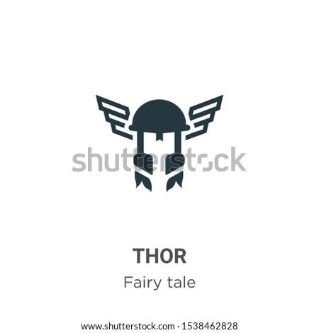thor vector icon on white