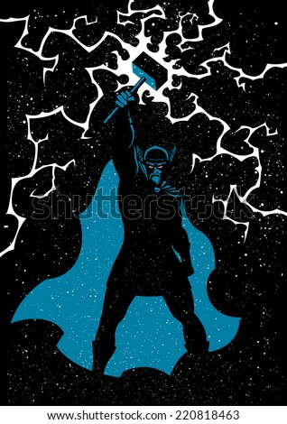 thor  vector illustration of