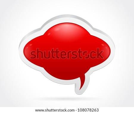Thought bubble isolated on gray white background