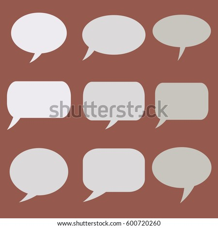 Thought frame. Speech bubble. Set of vector illustration icons.