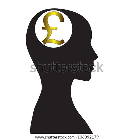 Thoughts on welfare. The pound sterling. Vector image