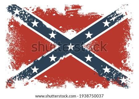 Threadbare flags of the Confederate States of America Foto stock ©