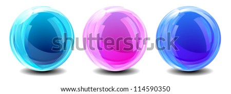 Three Abstract Globes - eps Ai 8 no transparency used