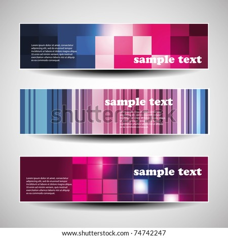 Three abstract header designs