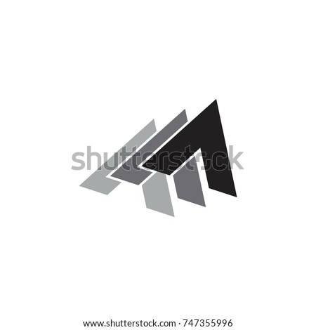 three arrow up 3d design gradation logo vector