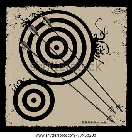 three arrows and targets