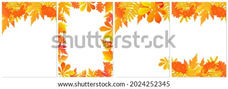three autumn banners with
