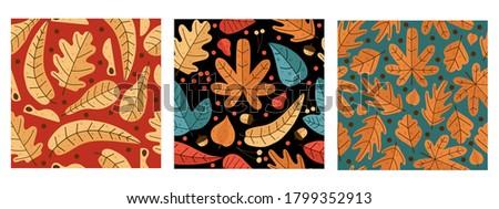 three autumn pattern with