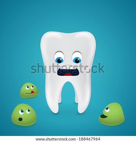 three bacterias surround the