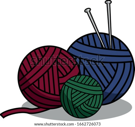 three balls of yarn for