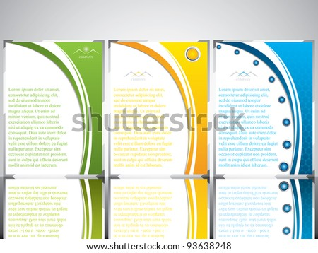 Three banner style brochure with text