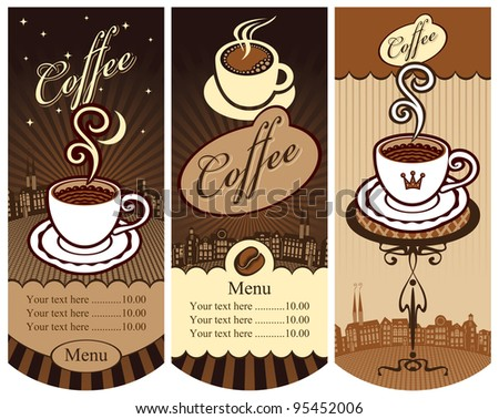 three banners for local cafes