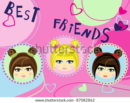 Three best friends card