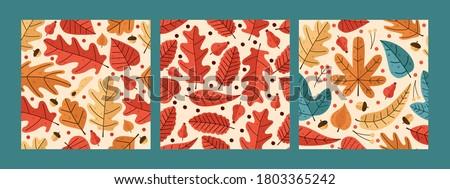 three black autumn pattern with