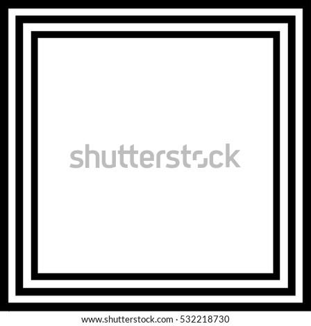 three black frames