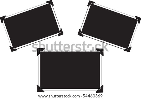three blank vector picture with