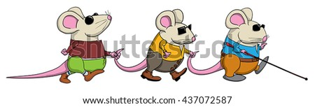 three blind mice leading each
