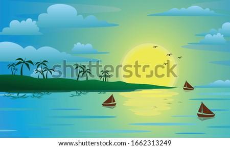 three boat on the beach at