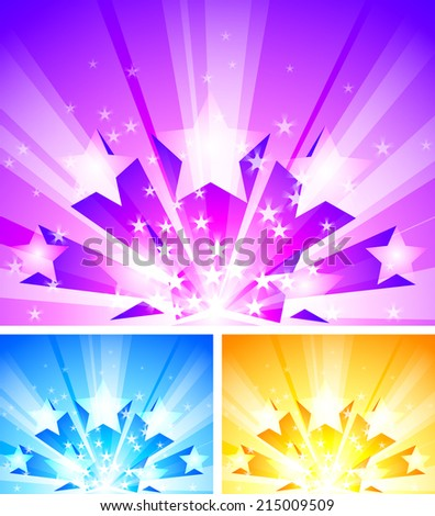 three bright backgrounds with