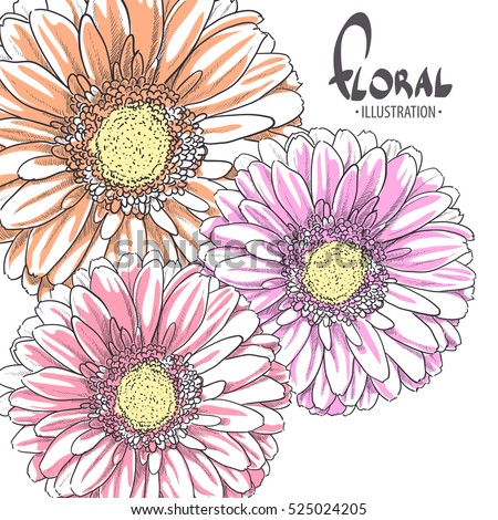 three bright gerbera for pet on