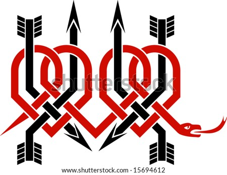 stock vector : three broken hearts - T-shirt/tattoo design