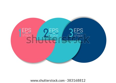 Three business elements banner, template. 3 steps design, chart, infographic, step by step number option, layout. 3D cyrcle style.