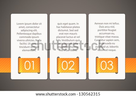 Three cards held together with a ribbon, EPS10 vector background - stock vector
