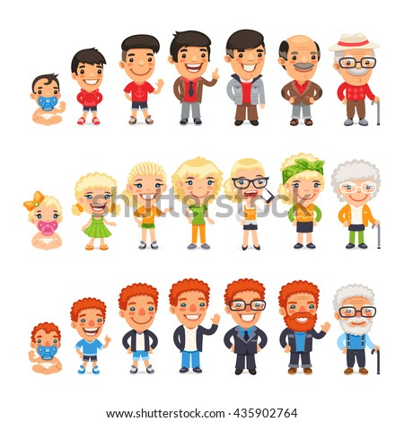 stock-vector-three-characters-generations-at-different-ages-man-and-woman-aging-set-baby-child-teenager-435902764.jpg