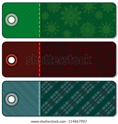 Three Christmas banners