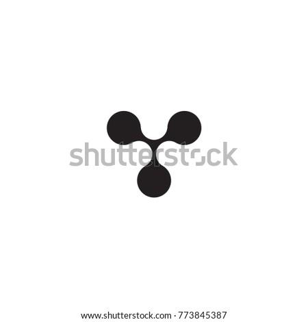 three circle connection logo vector