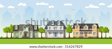 three classical country house