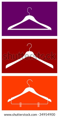 Three clothes hangers. Vector available