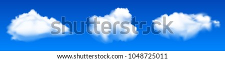 three clouds   stock vector