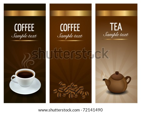 Three Coffee and Tea Labels