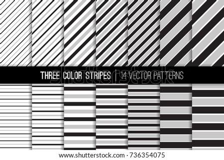 three color stripes vector