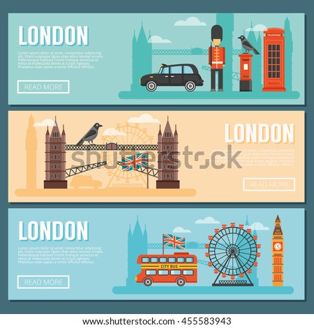 three colored horizontal london