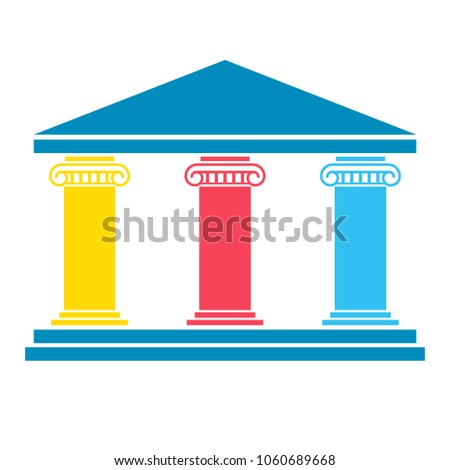 three column diagram clipart