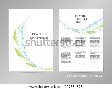 Three column double sided vector leaflet brochure for Double sided brochure template