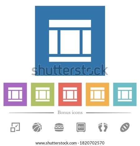 three columned web layout flat