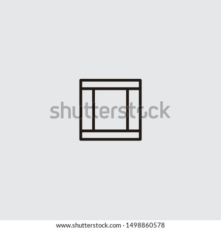three columned web layout icon