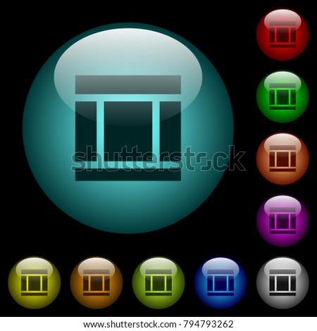 three columned web layout icons