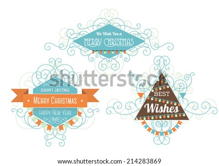 Best wishes vector background download free vector art stock three cool geometric christmas decor elements with the christmas greetings frames with a mess of m4hsunfo