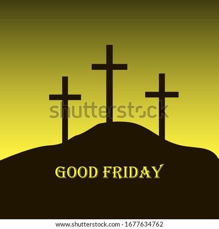 three crosses on calvary with