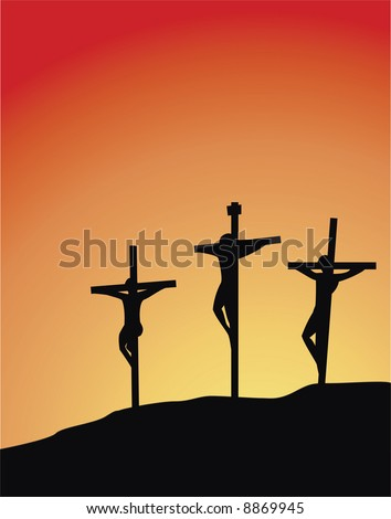 three crosses silhouette, easter