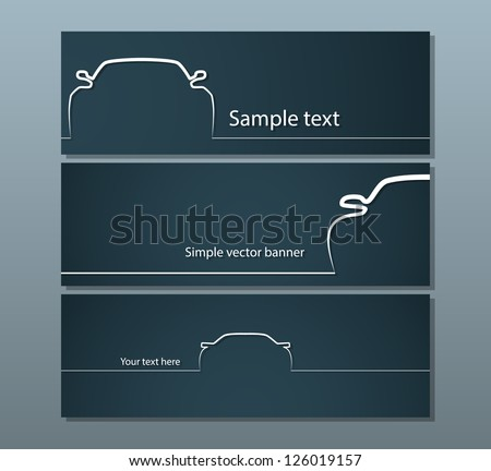 three dark car backgrounds with