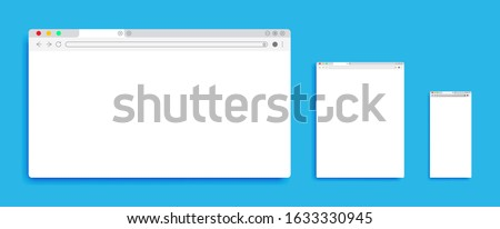 three different browser  in