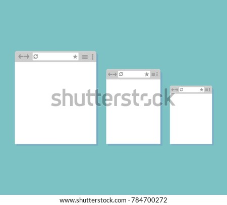 three different Internet windows on a blue background #784700272