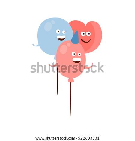 three different shape balloons