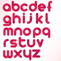 three dimension alphabet set