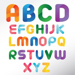 Three Dimension Colorful Alphabet Set